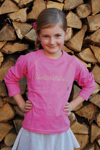"Kinder T-Shirt ""Chrischtkindle"" rosa"