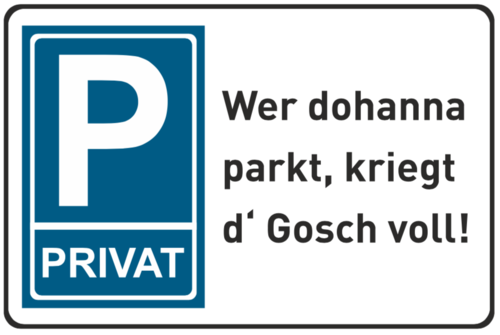 "Metallschild ""Privatparkplatz"""